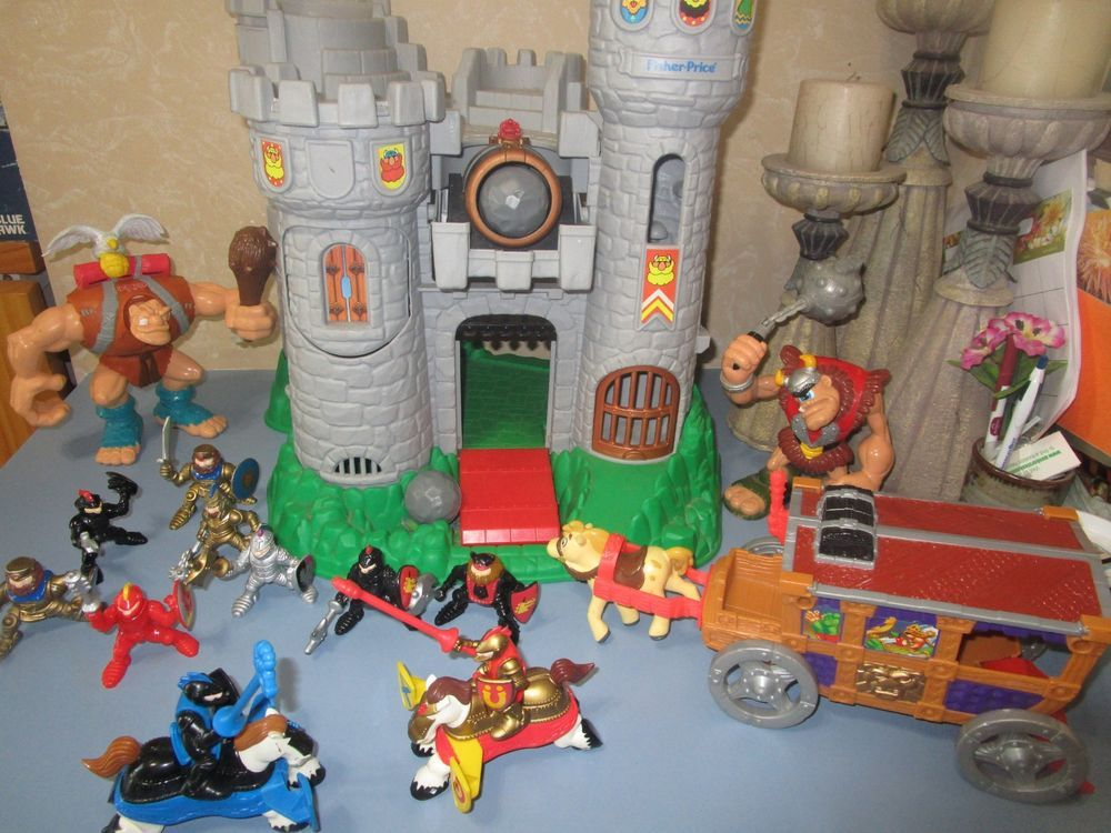 Vintage 1994 Fisher Price Great Adventures Castle With Knights And Cannon Balls Greatest Adventure Knight Vintage