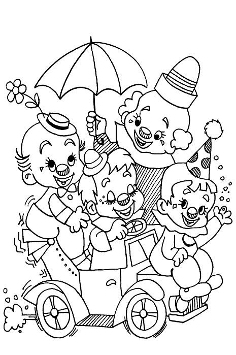 Circus printable coloring pages | Schule | Pinterest | Färben ...