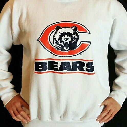 Chicago Bears Crewneck Sweatshirt Sweater Available on www.JustOneVintage.com Etsy Instagram @justonevintage
