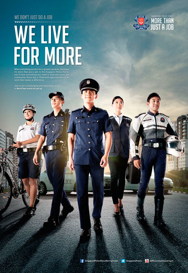 Dju Lian Chng The Primary Studio Recruitment Ads Police Force Police Recruitment