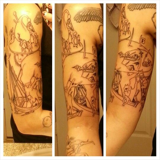 Hieronymus Bosch Tattoo Egg Shell Man Tattoo Line Works Only 1st