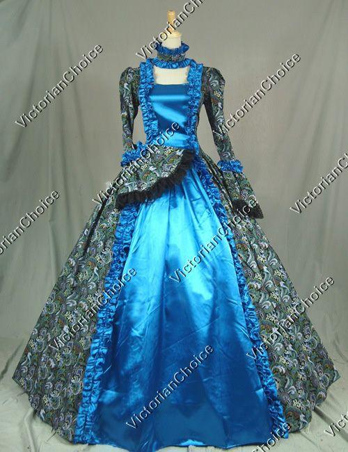 Victorian Era Ball Gowns Victorian Gothic Cosplay Satin Dress Ball