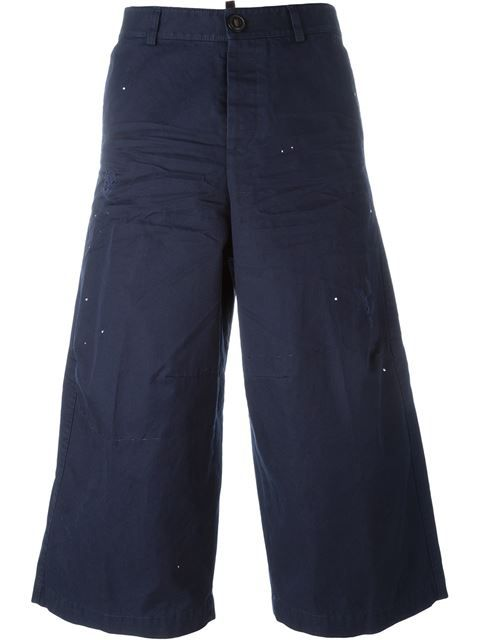 DSQUARED2 Cropped Wide Leg Trousers. #dsquared2 #cloth #trousers