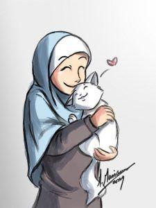 Kumpulan Gambar Kartun Muslimah Pasangan Romantis Muslim Girls Couples Arabic Art Ramadan