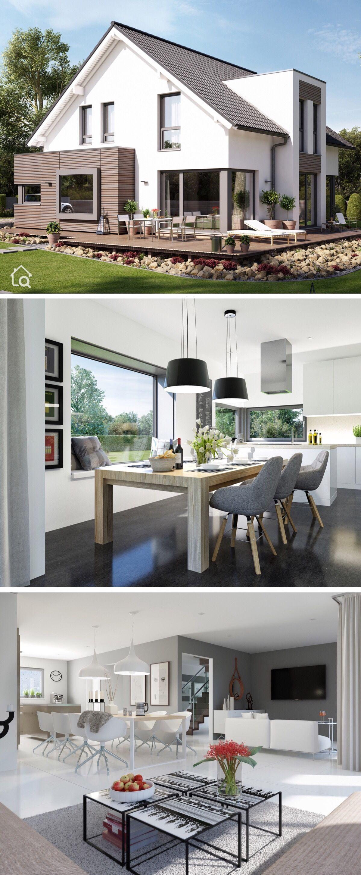 Einfamilienhaus Neubau Modern Mit Satteldach Architektur Holz