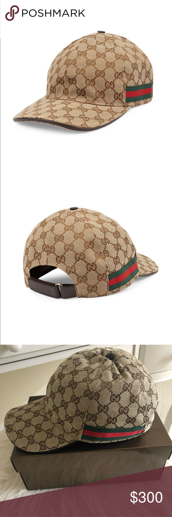 02c3a87ef6e0e NEW Gucci Canvas Baseball Hat Cap New and never worn. Comes with original  box!