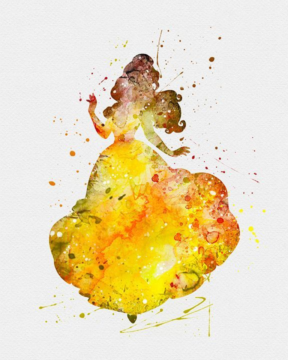 Belle, Beauty and the Beast 3 Watercolor Art Print