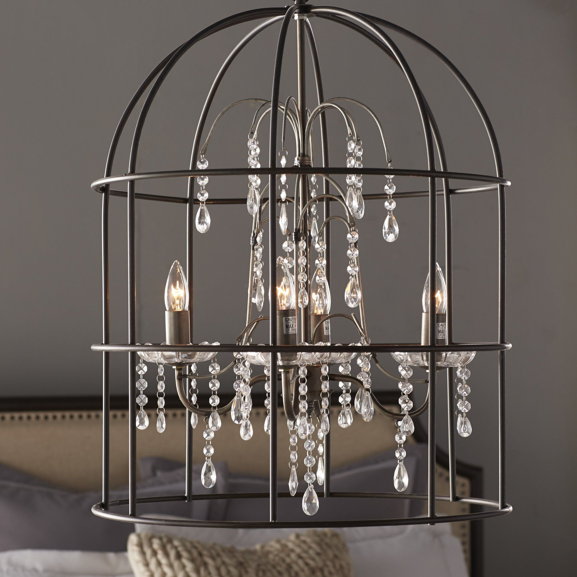 Melody Birdcage 4 Light Chandelier Home Decorating