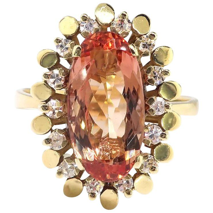Vintage Imperial Topaz Ring Circa 1960's 3.21ct T.w