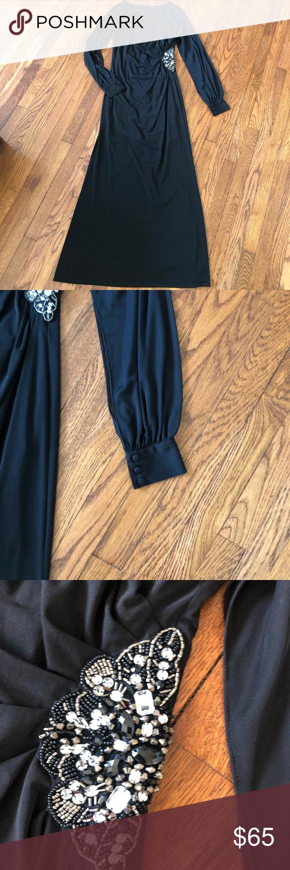 e7e5742f988 Eliza j black long sleeve gown Eliza j Black long sleeve gown Sleeves are  sheer Zipper