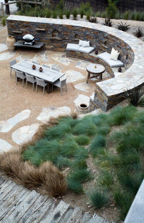 Striking Design Great Wall Niches For Candles And Plants Bronnie Masefau On Desire To Inspire Patio Pictures Outdoor Outdoor Inspirations