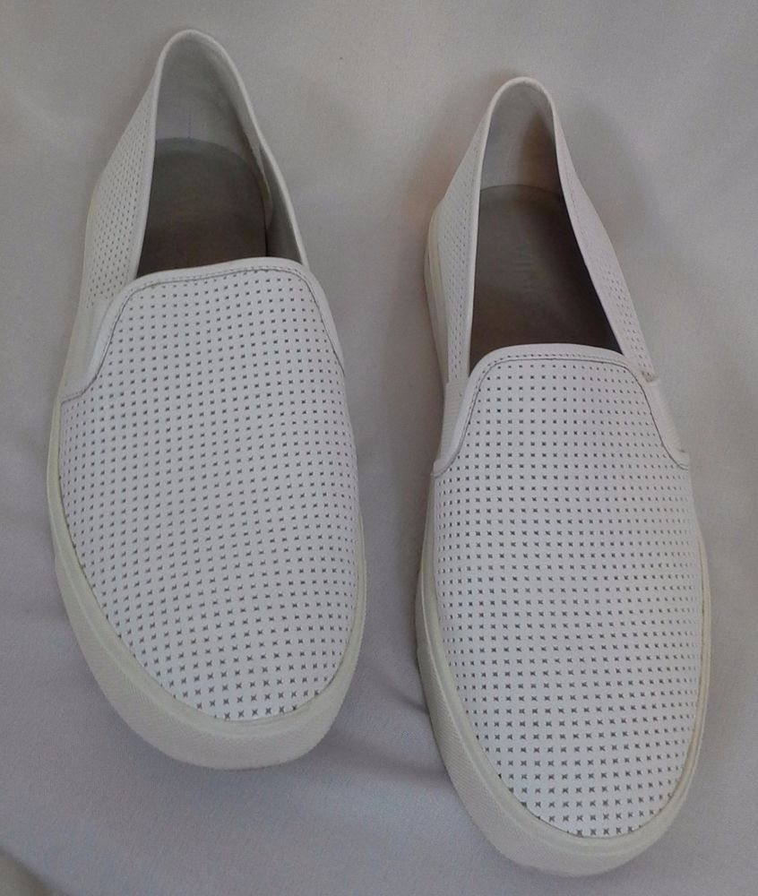 c707c3030 Vince Blair Perforated Leather Sneaker White Size 7 Medium | Clothing, Shoes  & Accessories, Women's Shoes, Flats & Oxfords | eBay!