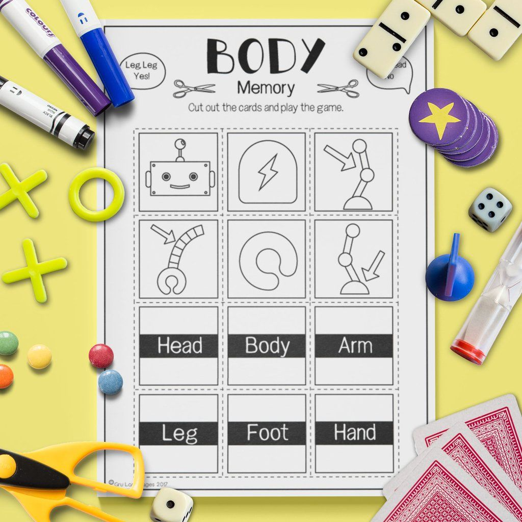 Body Memory Game