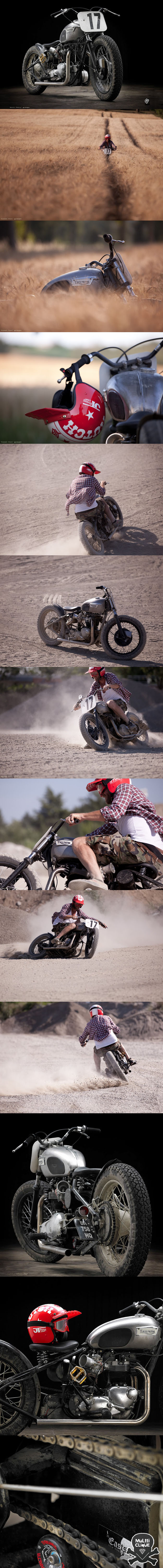 Great combo of product and lifestyle photography - Triumph T120