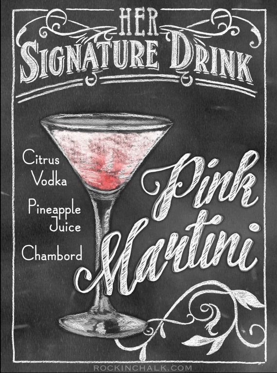 Signature Drink Prints custom made to order with your very special drink for your very special day. Perfect for rehearsal dinners, weddings and more! Heading can say HIS, HERS, THEIR, OUR, TODAY'S or TONIGHT'S $29