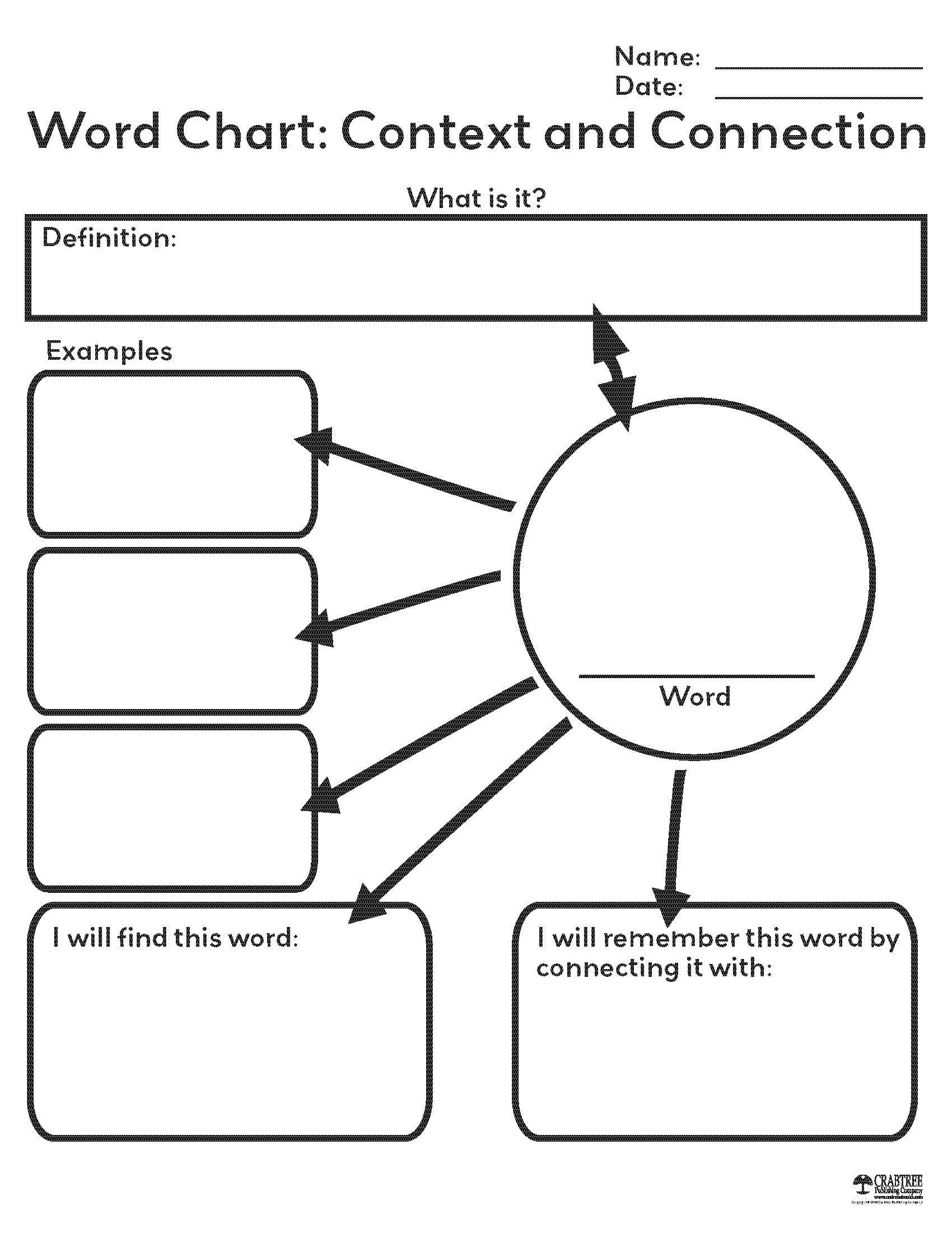 free printable graphic organizers free printable word chart from crabtree publishing 21870 | 894c008608550170e27b20d14fce2b19