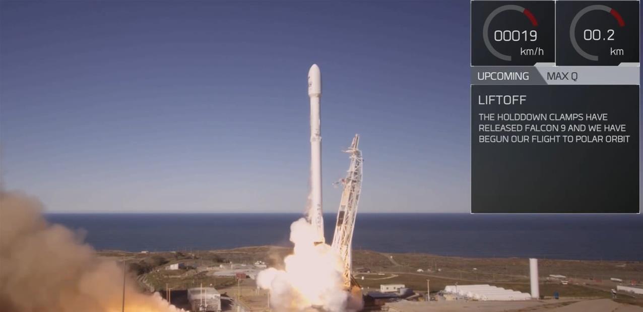 Falcon 9 de SpaceX : lancement et récupération réussis, les dix satellites Iridium en orbite