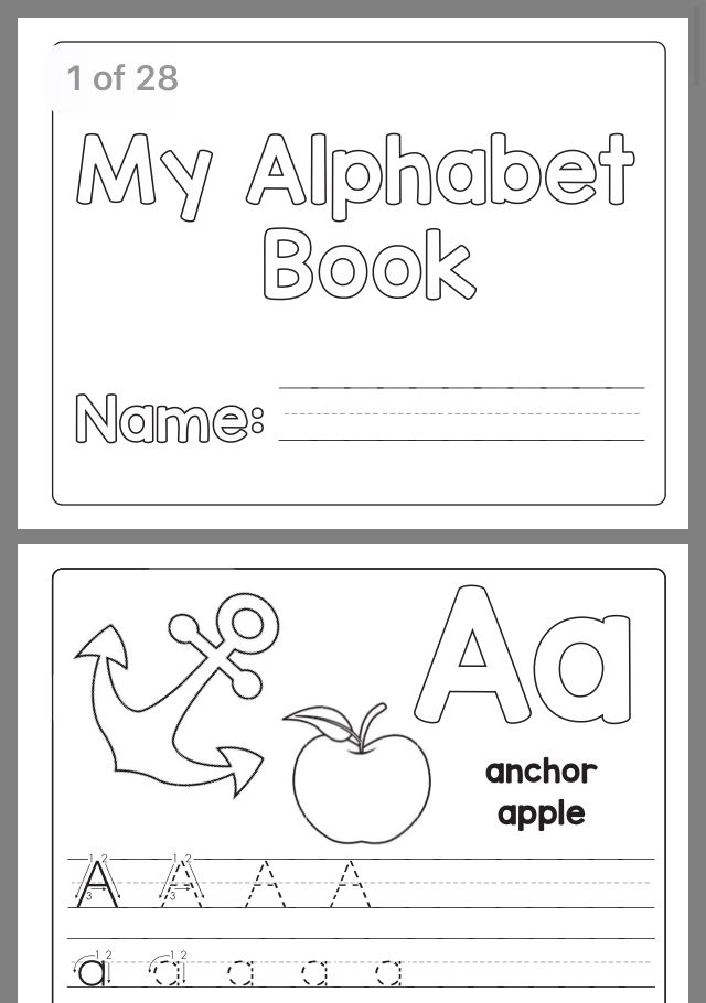 Letter Worksheets Pre K Alphabet Book, Letter Writing Practice, Preschool  Writing