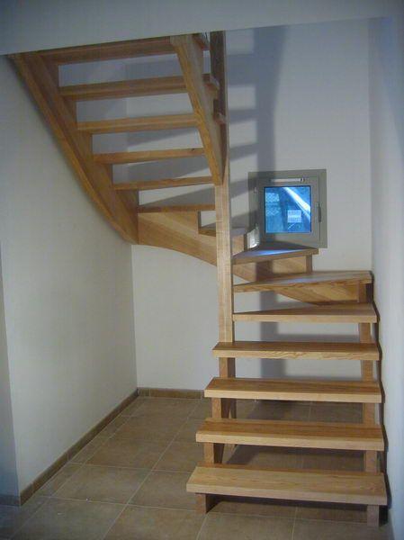 09 03 escalier 2 4 tournant rampe sur rampe avec cr maill re escalier en 2019 escalier bois. Black Bedroom Furniture Sets. Home Design Ideas