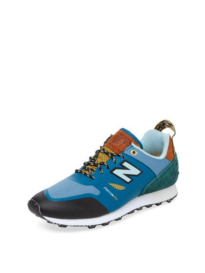 new balance suede color block trainer