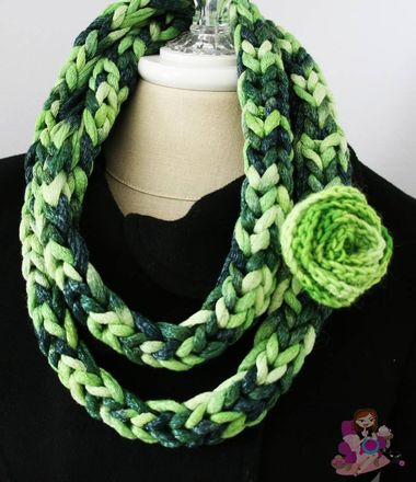 Chunky Necklace | Loom knitting patterns, Spool knitting ...