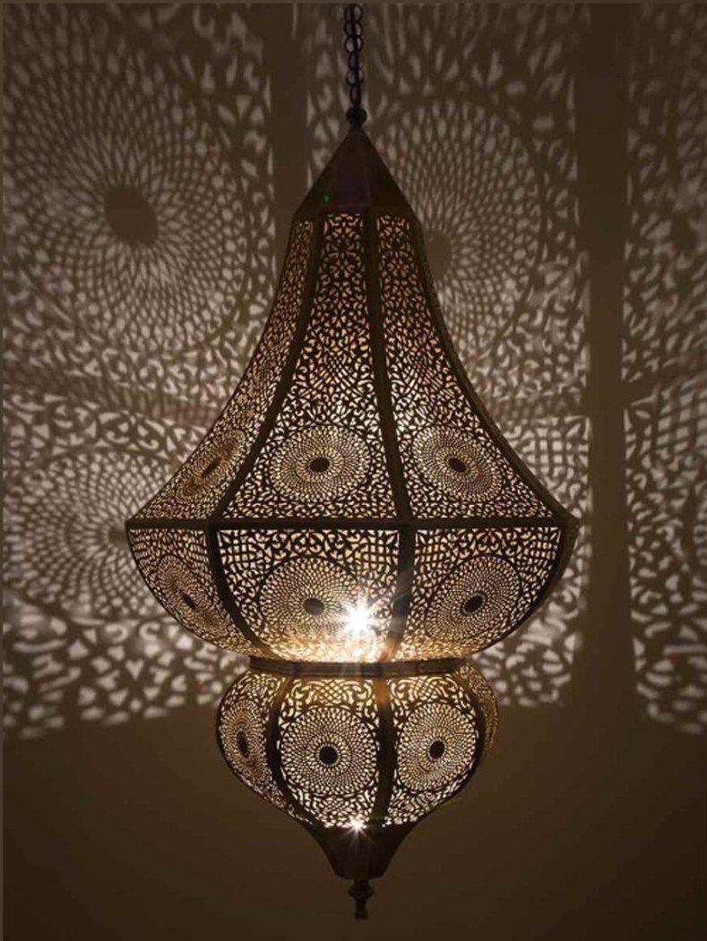 Marocain Lampe Suspension Pendentif Lumiere Marocain Cuivre