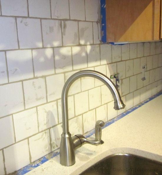 Tiling a Backsplash? Tips for finalizing tiles and grouting a kitchen  backsplash