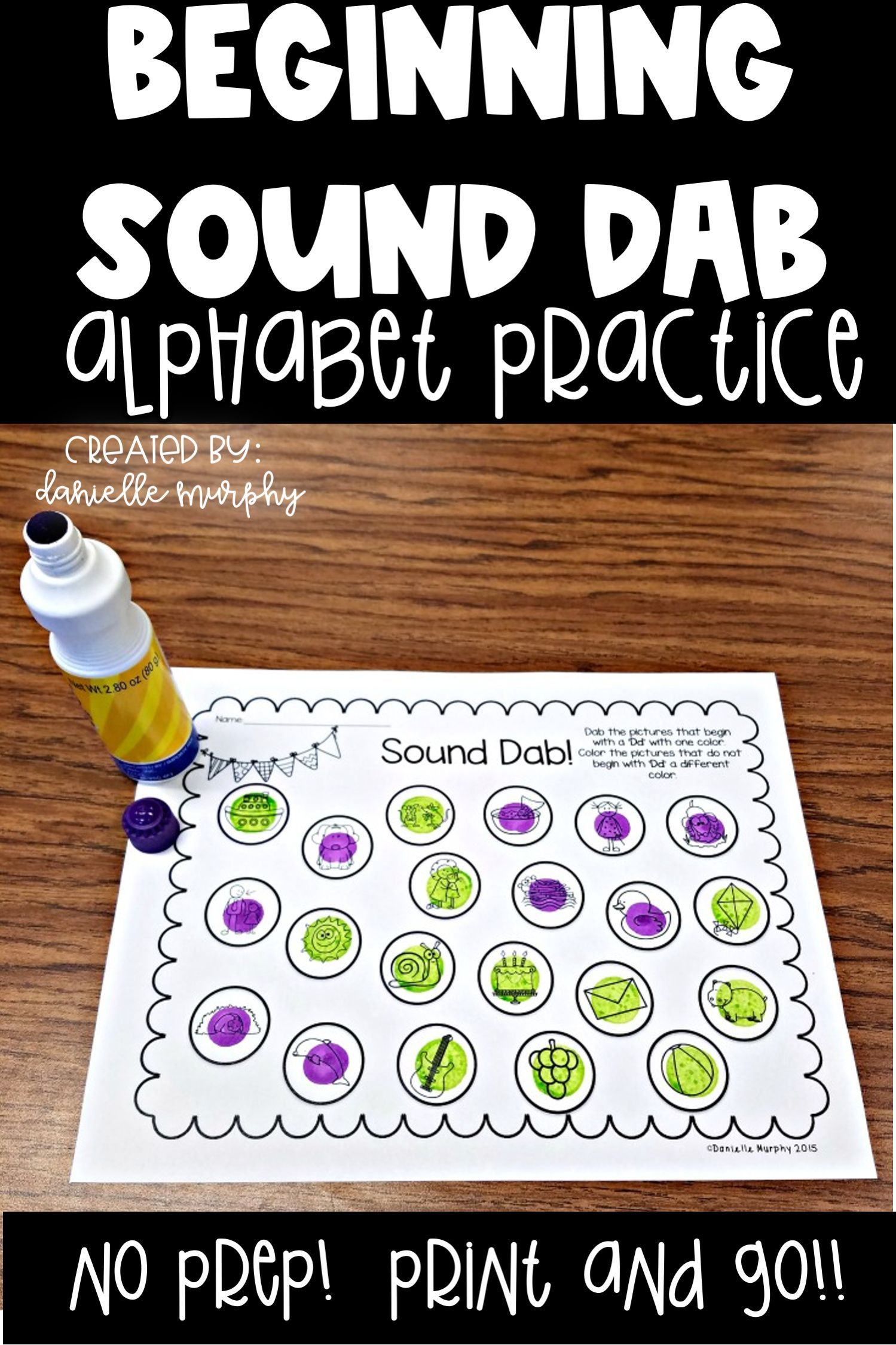 Distance Learning No Prep Alphabet Practice Beginning