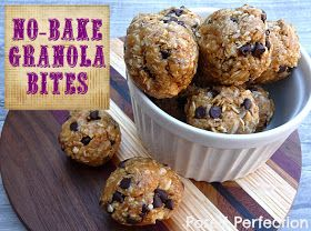 Posed Perfection: No-Bake Granola Bites