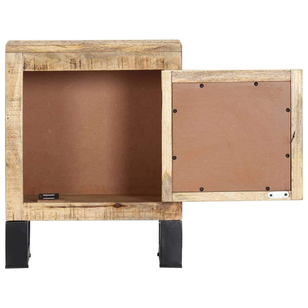 ZNTS Bedside Cabinet 40x30x50 cm Solid Mango Wood 282759