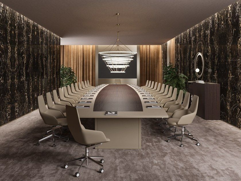 Walter Knoll Bureaustoel.Oval Wooden Meeting Table Bespoke Conference Tables Oval Meeting