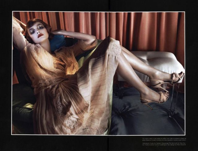 """Art Deco Fashion: """"Dinner at 8"""" by Steven Meisel"""