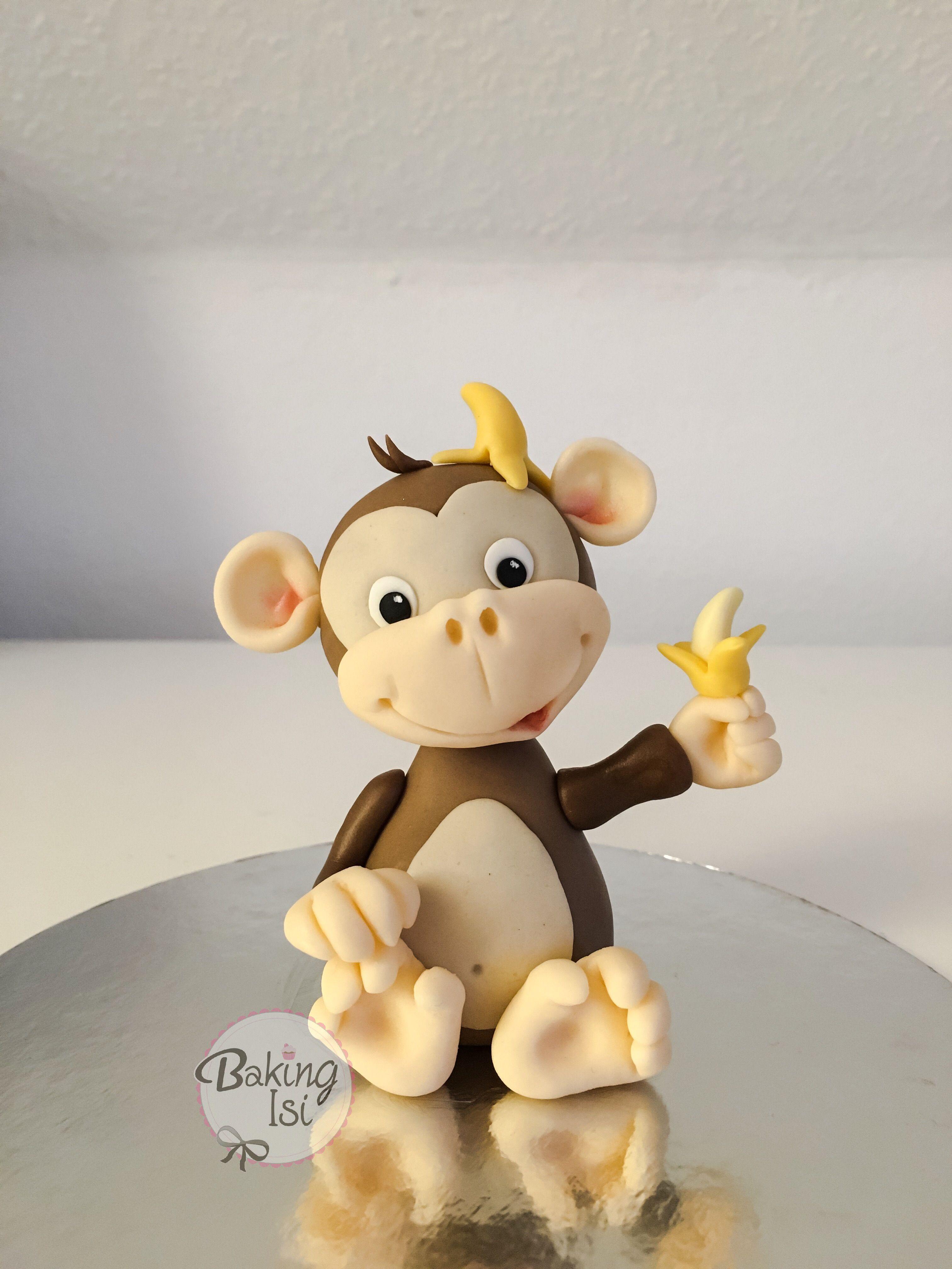 Fondant Affe Affchen Monkey Banane Banana My Sculpted Figures