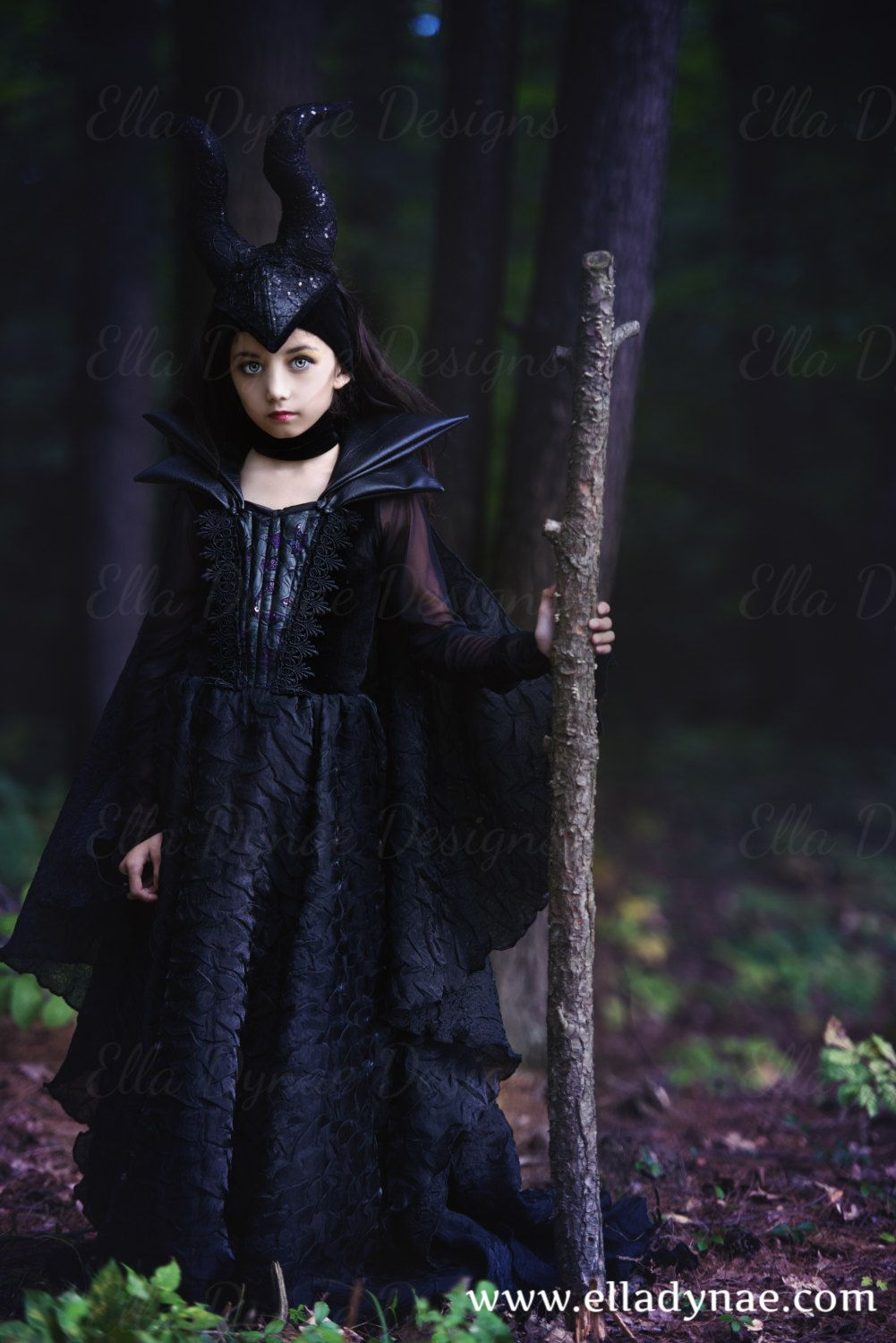 Halloween Delivery 2019 Couture Maleficent Gown Includes