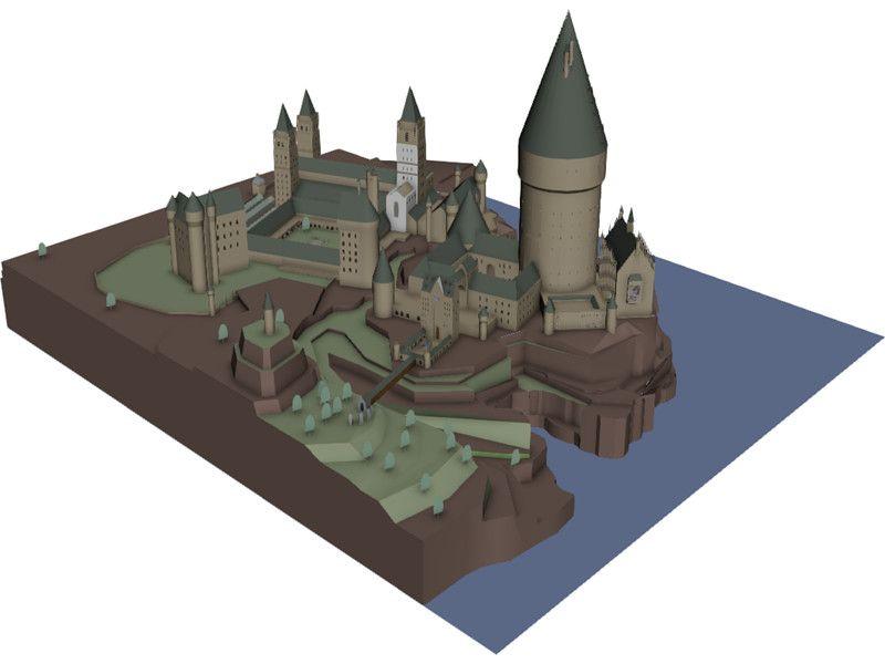 Hogwarts School Of Witchcraft And Wizardry 3d Model Download 3d Hogwarts Hogwarts School Hogwarts Minecraft