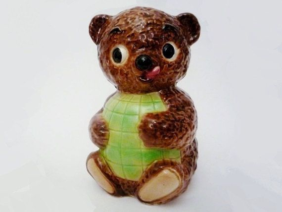 Vintage Bear Money Box from Goebel by oppning on Etsy €50 https://www.etsy.com/listing/114770793/