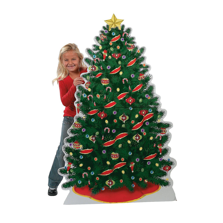 Christmas Tree Cardboard Stand Up Orientaltrading Com