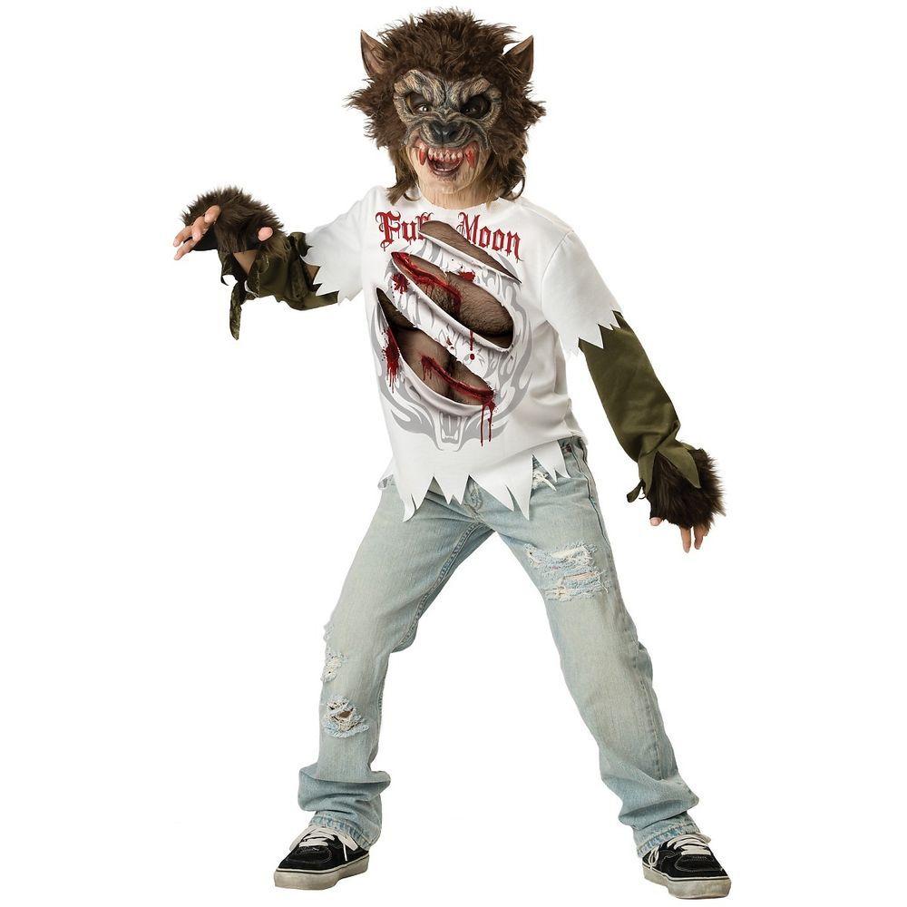 werewolf costume kids scary halloween fancy dress incharacter
