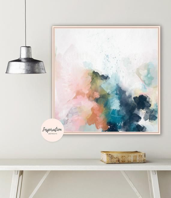 Colourful Abstract Art Large Wall Art 24x24 Art Print Etsy Colorful Abstract Art Colorful Wall Art Abstract Art Painting