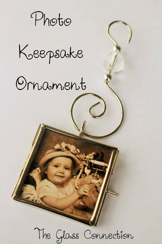 Diy Ornaments Kit 2 Glass Square Hinged Photo Frame Lockets