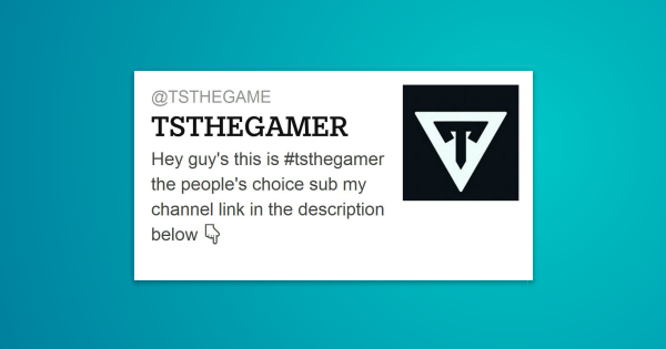 Hey Guy S This Is Tsthegamer The People S Choice Sub My