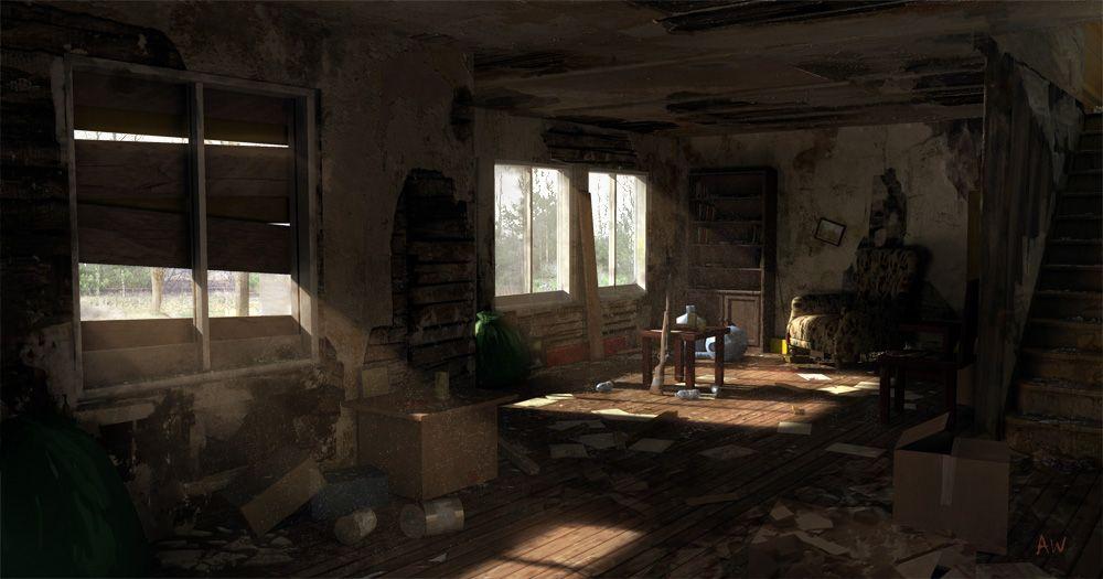 Unity 5 Post Apocalyptic House Interior Polycount Forum Environment Art Pinterest Post