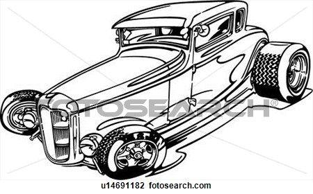 Street Rod Clip Art | Clipart of , hotrod, hot rod, cartoon, car ...