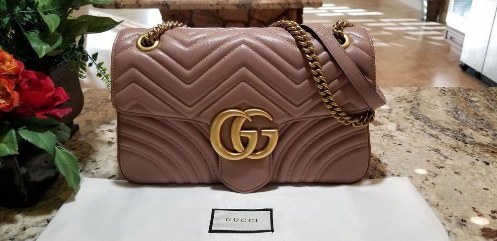 e59275ca7fe Authentic Gucci GG Marmont Medium Beige Matelassé Leather Shoulder Bag   fashion  clothing  shoes  accessories  womensbagshandbags (ebay link)   Guccihandbags
