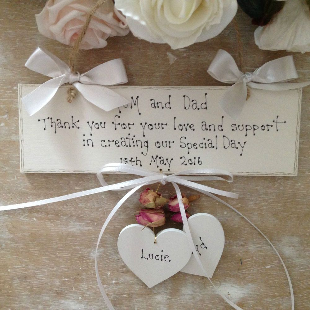 Personalised Wedding Thank You Gift Mum Dad Wedding Day Thank You