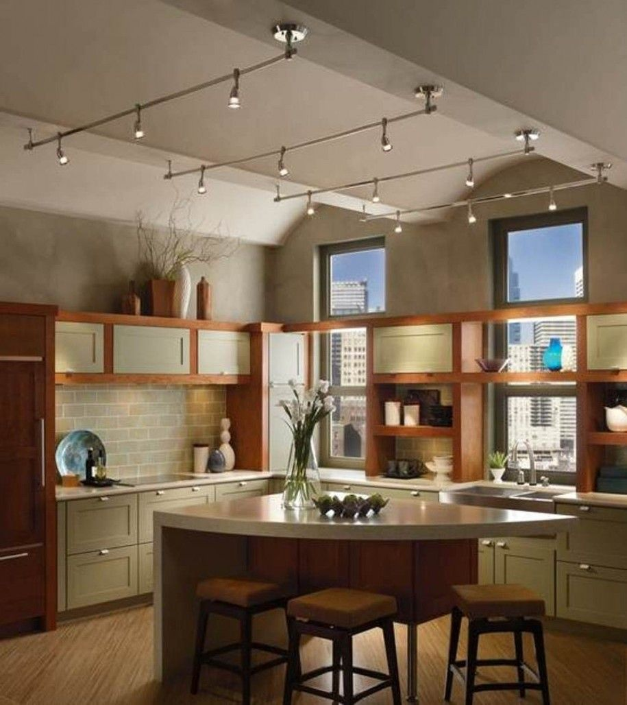 Lighting Ideas For Kitchen 11 Stunning Photos Of Kitchen Track Lighting Pegasus Lig Track Lighting Kitchen Kitchen Ceiling Lights Farmhouse Track Lighting