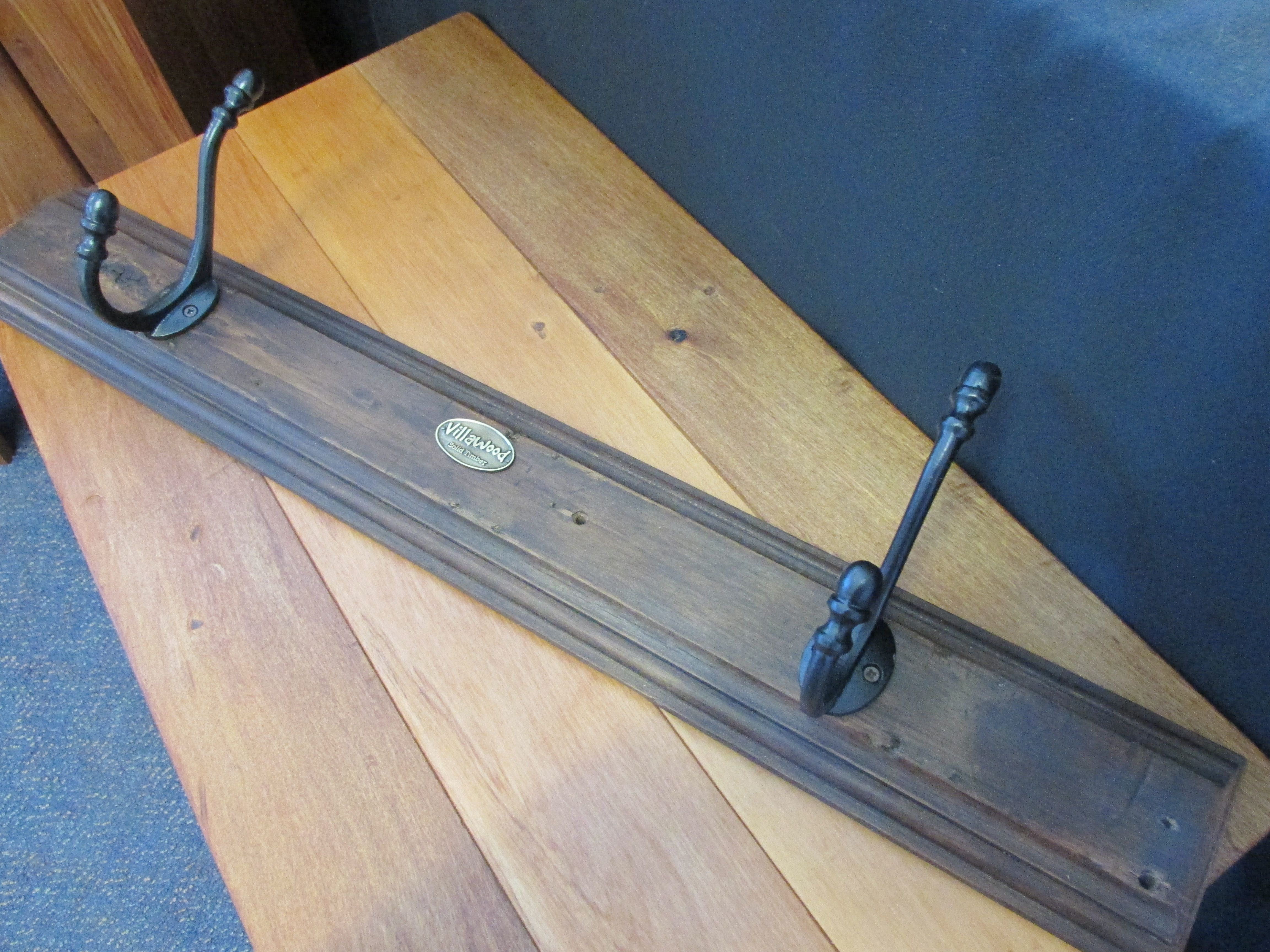 And More Rustic 2 Peg Coat Rack With Badge Made From A Piece Of Very Old Solid Recycled Rimu 45 Https Www Facebook Com V Rustic Church Street Homeware