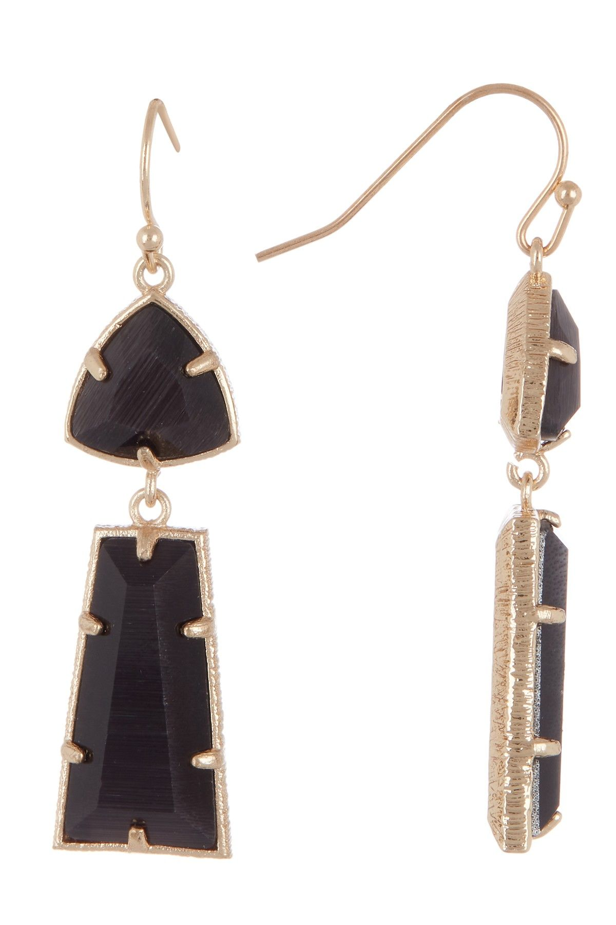 98c7030c5d9d8 14th & Union | Double Stone Drop Earrings | Accessories - Many ...