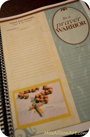 Homemade *customizable* Planner with notepages, prayer journal
