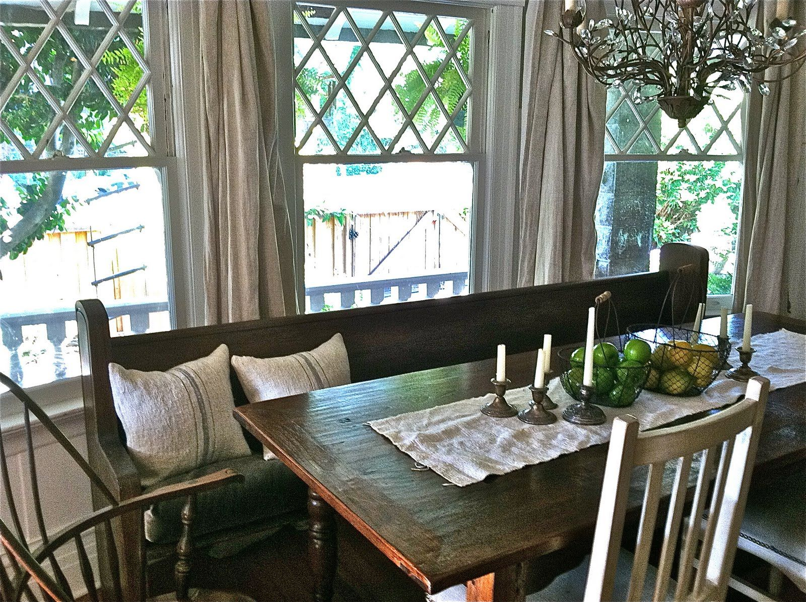 Old Church Bench Farmhouse Style Kitchen Table Farmhouse Kitchen Table Sets Dining Room Makeover